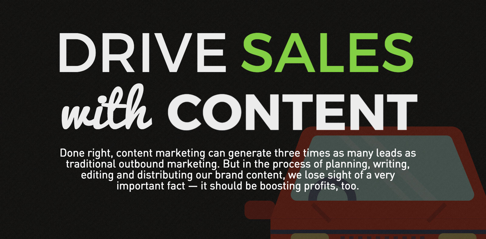 How to Drive Sales with Content Marketing [INFOGRAPHIC]