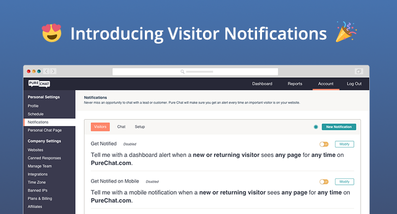 Visitor Notifications (and other Q4 updates)!