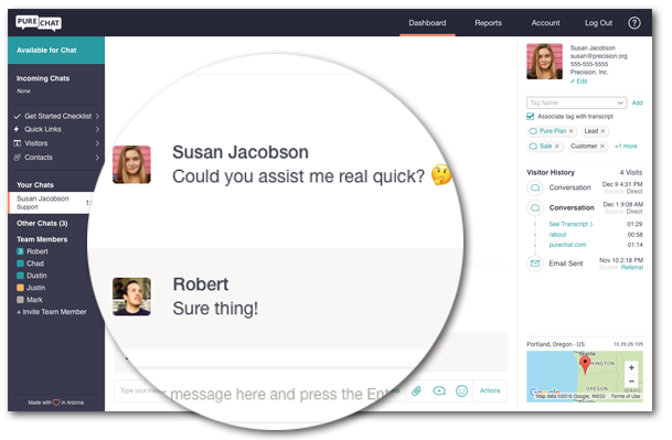 Install a chatbox and start speaking with your website visitors