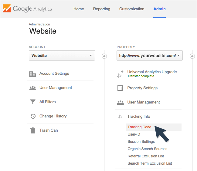 how to change tracking id in google analytics